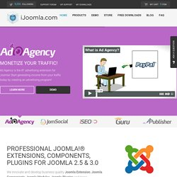 iJoomla: Joomla Extensions, Modules, and Components