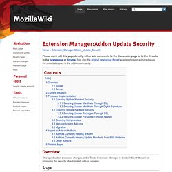 Extension Manager:Addon Update Security