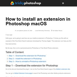 How to install an extension in Photoshop macOS