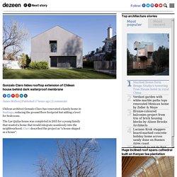 Gonzalo Claro hides rooftop extension of Chilean house behind dark waterproof membrane