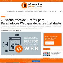 7 extensiones de Firefox para Diseñadores Web que deberías tener instaladas