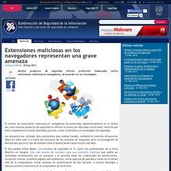Extensiones maliciosas en los navegadores representan una grave amenaza