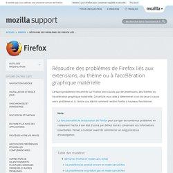 Résoudre des problèmes de Firefox liés aux extensions, au thème ou à l'accélération graphique matérielle