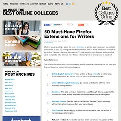 50 Must-Have Firefox Extensions for Writers