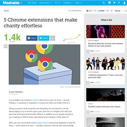 5 Chrome extensions that make charity effortless