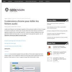 5 extensions chrome pour éditer les fichiers audio