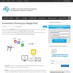 8 extensions Chrome pour Google Drive