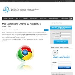 Mes 6 extensions Chrome qui m'aident au quotidien