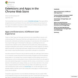 Extensions, Packaged Apps, and Hosted Apps in the Chrome Web Store - Chrome Web Store - Google Code