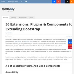 50 Extensions and Plugins for Extending Bootstrap