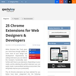 25 Chrome Extensions for Web Designers & Developers