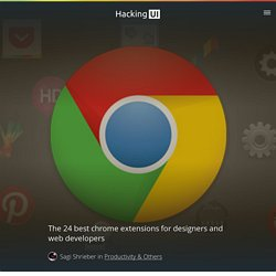 The 24 best chrome extensions for designers and web developers