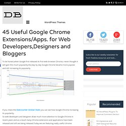 45 Useful Google Chrome Extensions/Apps. for Web Developers,Designers and Bloggers