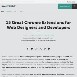 15 Great Chrome Extensions for Web Designers and Developers
