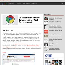 18 Essential Chrome Extensions for Web Development