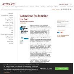 Extensions du domaine du don - 2019