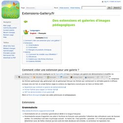 Extensions-Gallery/fr