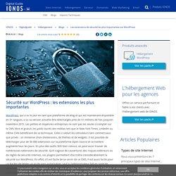 Les extensions de sécurité les plus importantes sur WordPress - IONOS