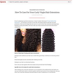 Caring for your Curly Hair