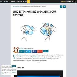 Cinq extensions indispensables pour Dropbox
