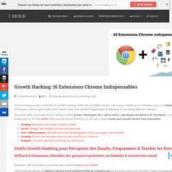 16 Extensions Chrome Indispensables pour le Growth Hacking