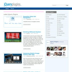 jQuery Plugins - Plugins, Extensions & Tutorials for jQuery JavaScript Library