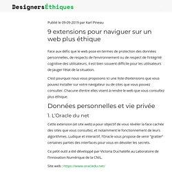 9 extensions pour naviguer sur un web plus éthique – Designers Éthiques