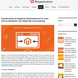 Top Benefits of Magento Extensions for E-commerce Websites You Might Be Overlooking