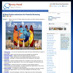 50 Best Firefox extensions for Powerful Browsing