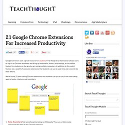 21 Google Chrome Extensions For Increased Productivity