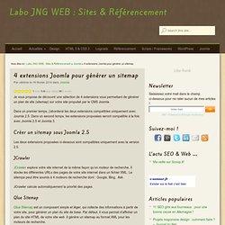 4 extensions Joomla pour générer un sitemap