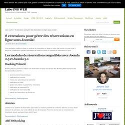 8 extensions pour gérer des réservations en ligne sous Joomla!