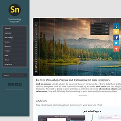 15 Free Photoshop Plugins and Extensions for Web Designers
