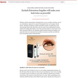 Eyelash Extensions Supplies will make your look twice as powerful