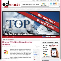 Chrome Web Store Extensions for Teachers