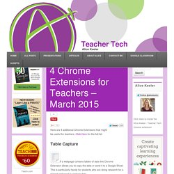 4 Chrome Extensions for Teachers – March 2015