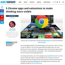 5 Chrome apps and extensions to make thinking more visible