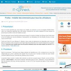 Firefox : Installer des extensions pour tous les utilisateurs