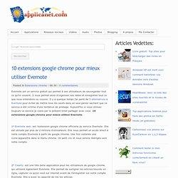 10 extensions google chrome pour mieux utiliser Evernote