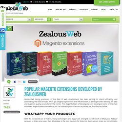 Some of the Famous Magento Extensions Developed by ZealousWeb