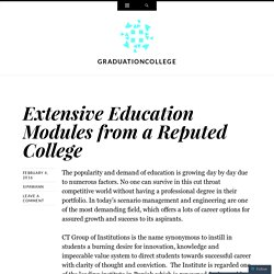 Extensive Education Modules from a Reputed College