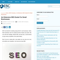 An Extensive SEO Guide For Small Businesses