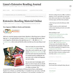 Extensive Reading Material Online