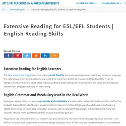 Extensive Reading for ESL/EFL Students