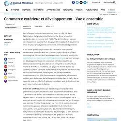 Commerce extérieur et développement - Vue d'ensemble