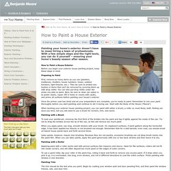 Exterior House Painting - How to Paint a House Exterior