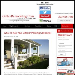 What to Ask Your Exterior Painting Contractor