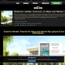 Exterior render tutorial in Maya and Mental Ray - Antonio Bosi 3D Render, Maya mental ray tutorials