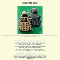 Extermanint! knitted dalek pattern
