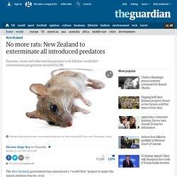 No more rats: New Zealand to exterminate all introduced predators